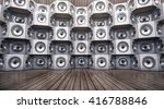 wall of musical speakers on a... | Shutterstock . vector #416788846