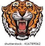 tiger face | Shutterstock .eps vector #416789062