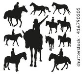 horse silhouettes. part 2 | Shutterstock .eps vector #416790205