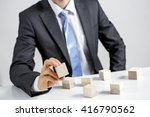 concept of business hierarchy... | Shutterstock . vector #416790562