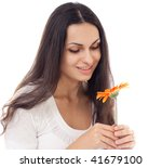 young beautiful woman with... | Shutterstock . vector #41679100