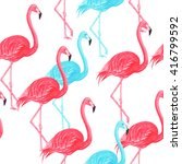 flamingo blue and pink... | Shutterstock . vector #416799592