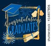 vector illustration graduation... | Shutterstock .eps vector #416807806