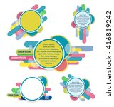 set of website origami  banner. ... | Shutterstock .eps vector #416819242