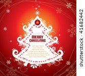 red christmas tree template | Shutterstock .eps vector #41682442