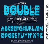 double script typeface   font | Shutterstock .eps vector #416829106