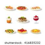 italian food icon set detailed... | Shutterstock .eps vector #416835232