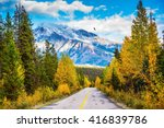 the road goes into the distance.... | Shutterstock . vector #416839786