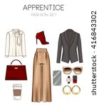 fashion set of woman's clothes  ... | Shutterstock . vector #416843302