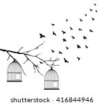 vector illustration of birds... | Shutterstock .eps vector #416844946
