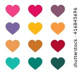 heart icon vector jpeg object... | Shutterstock .eps vector #416845696