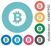flat bitcoin sticker icon set...