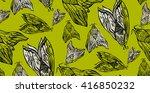 cute line art  seamless pattern ... | Shutterstock .eps vector #416850232