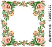 serviette  flower rose ... | Shutterstock . vector #416853232