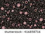 seamless cute flower vector...   Shutterstock .eps vector #416858716