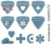 set of medical icons with signs ...   Shutterstock .eps vector #416859175