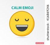 single calm emoji. isolated... | Shutterstock .eps vector #416869246
