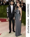 Small photo of New York City, USA - May 2, 2016: Zayn Malik and Gigi Hadid attend the Manus x Machina Fashion in an Age of Technology Costume Institute Gala at the Metropolitan Museum of Art