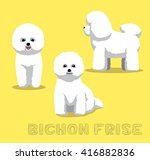 dog bichon frise cartoon vector ... | Shutterstock .eps vector #416882836