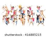 success concept jumping...   Shutterstock . vector #416885215