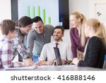 startup business  young... | Shutterstock . vector #416888146