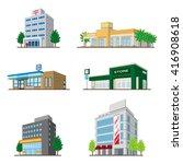 building   solid figure | Shutterstock .eps vector #416908618