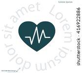 heartbeat vector icon | Shutterstock .eps vector #416922886