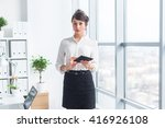 female manager wearing office... | Shutterstock . vector #416926108