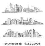 hand drawn sketches of urban... | Shutterstock .eps vector #416926906