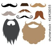 mustache and beard party... | Shutterstock .eps vector #416928055