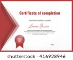 certificate of completion with... | Shutterstock .eps vector #416928946