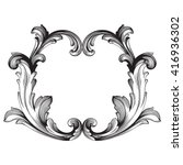 vintage baroque frame scroll... | Shutterstock .eps vector #416936302