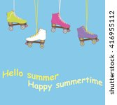 hello summer. i love summer.... | Shutterstock .eps vector #416955112