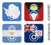 nation flag. loudspeaker... | Shutterstock . vector #416960482