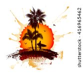 tropical background with a...   Shutterstock .eps vector #416965462