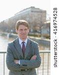 businessman outdoors | Shutterstock . vector #416974528