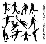a set of soccer player... | Shutterstock .eps vector #416983006