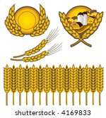 clip art of wheat done in...