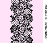 lace seamless pattern. | Shutterstock .eps vector #416986102