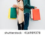 closeup of man and woman... | Shutterstock . vector #416989378
