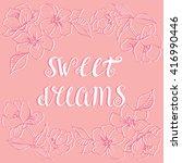 hand drawn lettering poster... | Shutterstock .eps vector #416990446