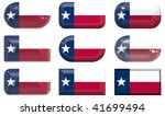 nine glass buttons of the  flag ... | Shutterstock . vector #41699494