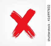 x. red letter x made with ink.... | Shutterstock .eps vector #416997832