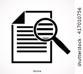 document with magnifying glass... | Shutterstock .eps vector #417010756