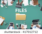 files index content details... | Shutterstock . vector #417012712