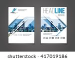vector set of art flyers... | Shutterstock .eps vector #417019186