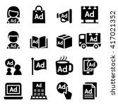 advertising icon set | Shutterstock .eps vector #417021352