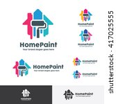 Stock vector house paint logo home decoration company identity 417025555