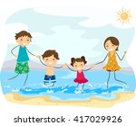 stickman illustration of a... | Shutterstock .eps vector #417029926