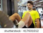 portrait of handsome young man... | Shutterstock . vector #417031012